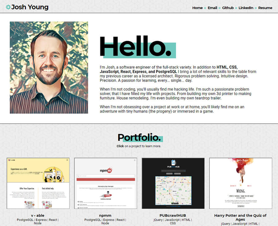Josh Young Portfolio Never miss another show from josh potter. josh young portfolio